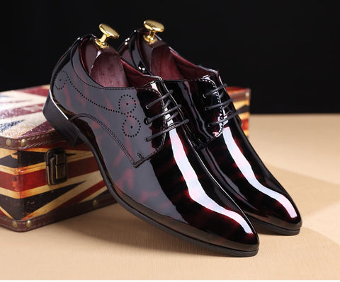 Pointed toe men oxfords shoes fashion