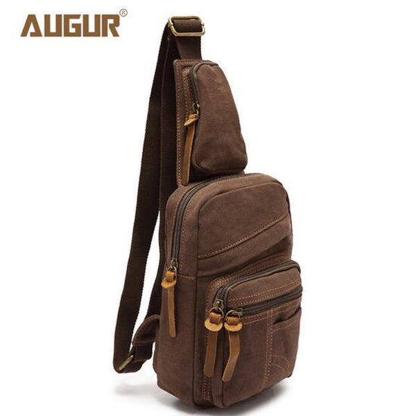 AUGUR Men's Chest Canvas Bag