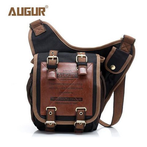 Augur brand canvas messenger bags