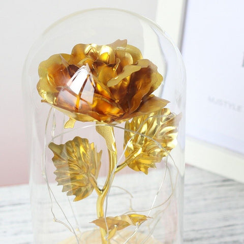 Beauty And The Beast Rose In A Glass