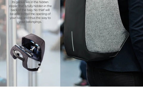 Anti Theft Backpack With USB Charging