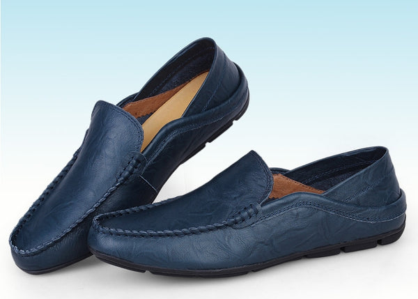 Genuine Leather Men's Flat Shoes