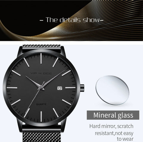 Crucian.03 Fashion Mens Watches Ultra Thin Quartz Watch