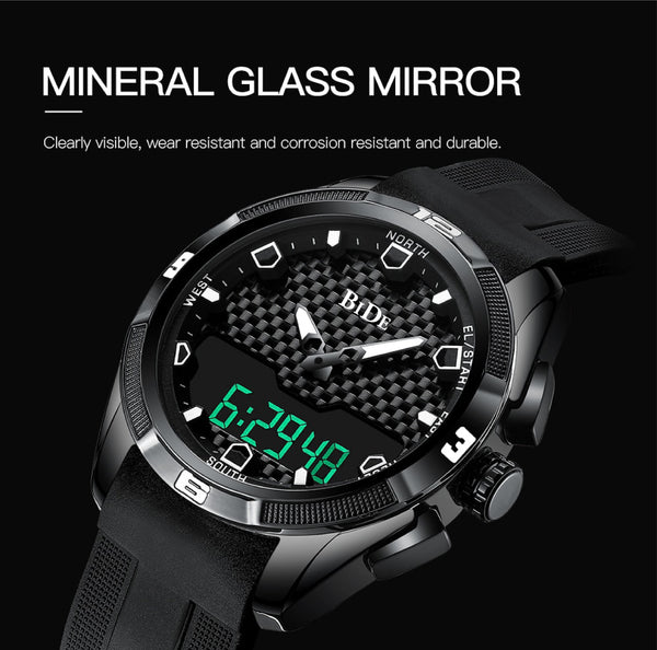 Bide.02 LED Dual Display Shock Rubber watch