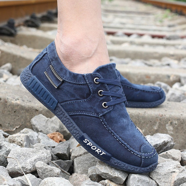 Canvas Lace-Up Men Shoes