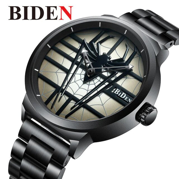 BIDEN06 Men's Creative Spider Dial Watch
