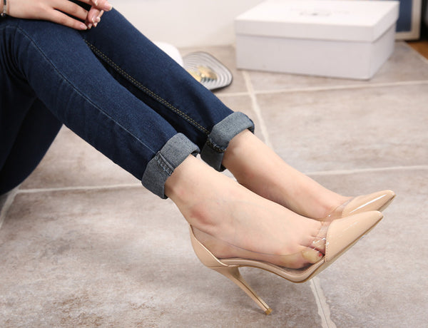 Transparent Women Heels