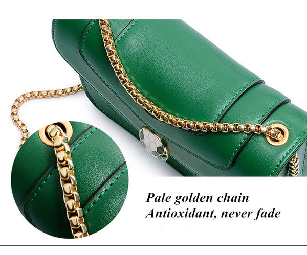 Personality Snake Lock Decoration Women handbag الحقيبة الأنيقة