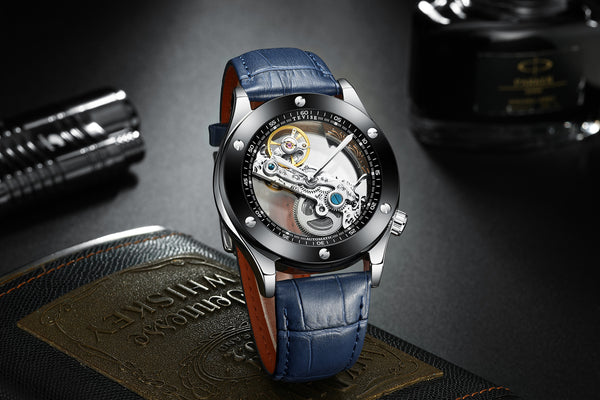 Tevise005 Transparent Hollow Mechanical Watches