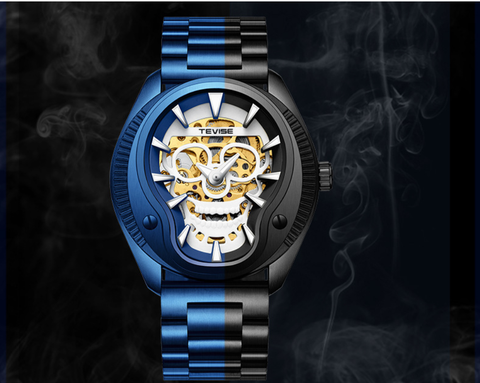 Tevise004 Skull 3D Sculpture Mechanical Watches
