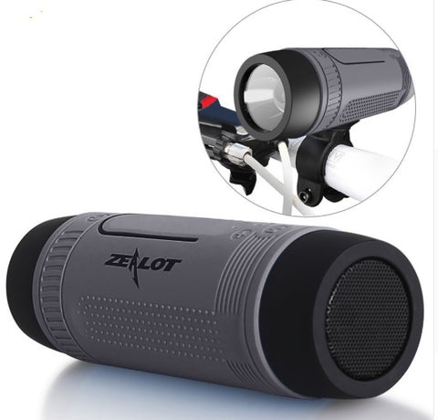 Portable Bluetooth Bicycle Speaker and Flashlight