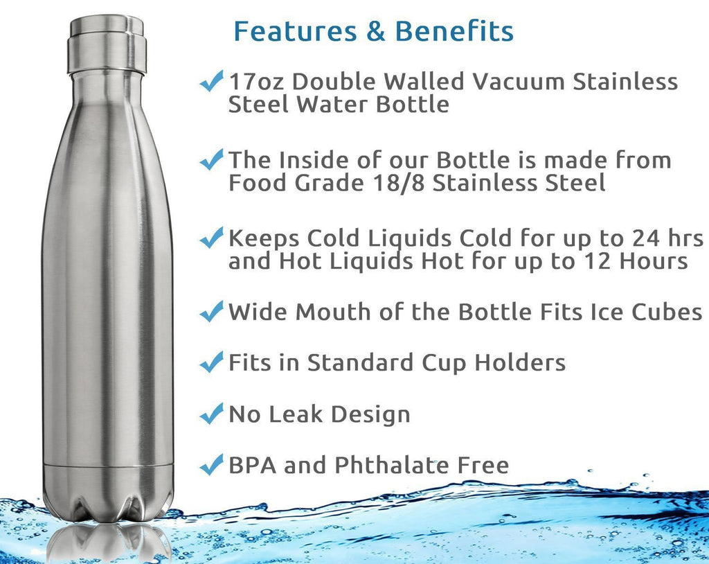 Stainless Steel Water Bottle 17oz