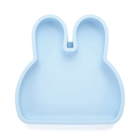 BUNNY SILICONE PLATE . BABY BLUE