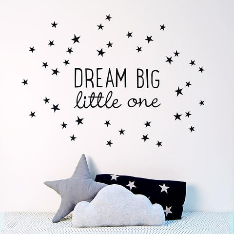 WALL DECAL BLACK STARS