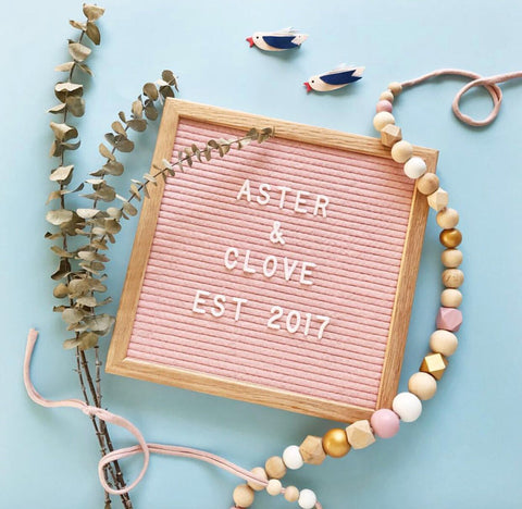 LETTER BOARD: SQUARE BLUSH PINK
