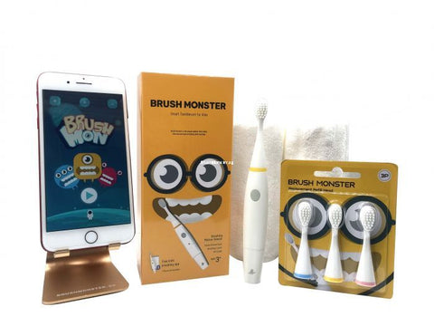 BRUSH MONSTER KIDS AR TOOTHBRUSH (BUNDLE SET)