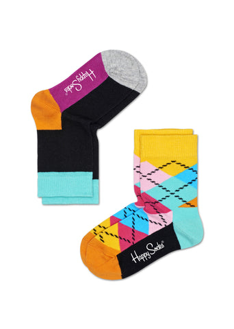 KIDS BIG CHECKED SOCKS (2 PAIRS)