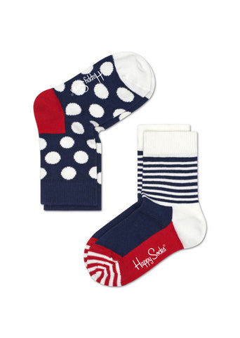 KIDS BIG DOT SOCKS (2 PAIRS)