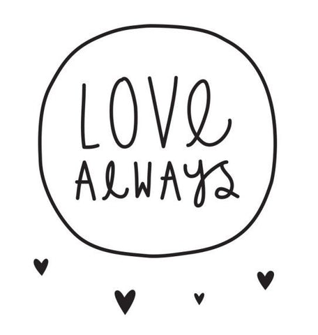 WALL DECAL LOVE ALWAYS