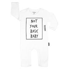 NOT YOUR BASIC BABY ROMPER (WHITE)- PRE ORDER