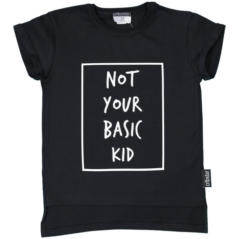 NOT YOUR BASIC KID TEE (BLACK)