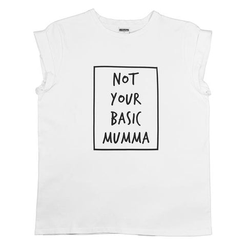 NOT YOUR BASIC MUMMA TEE (WHITE)