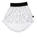 HUXBABY PAINT CRACK DROP BACK SKIRT