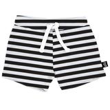 BAMBOO DRAWSTRING SHORTS - STRIPED