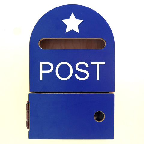 RAINBOW POST BOX BLUE