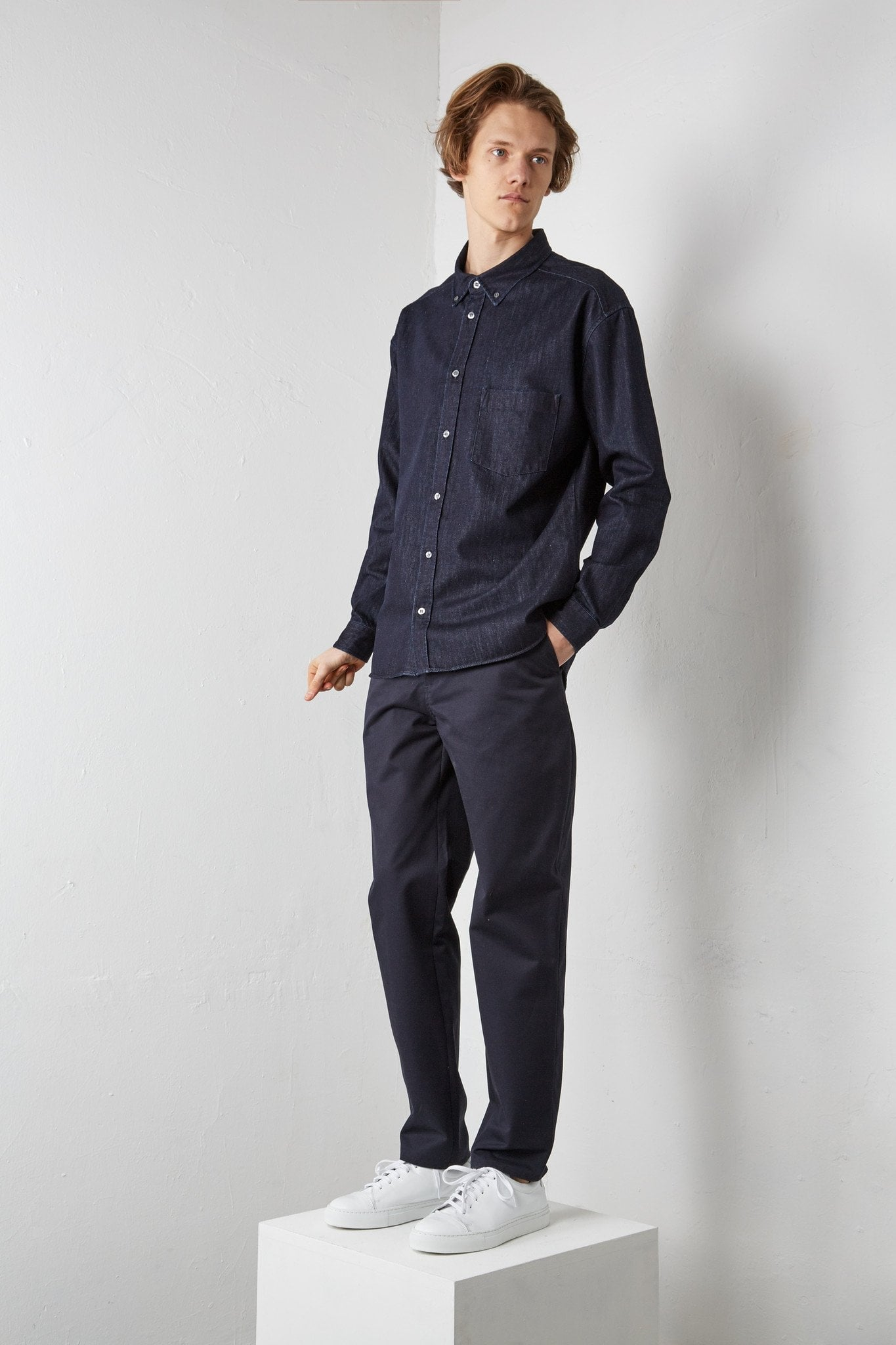 Shirt Mikhaïl – dark blue