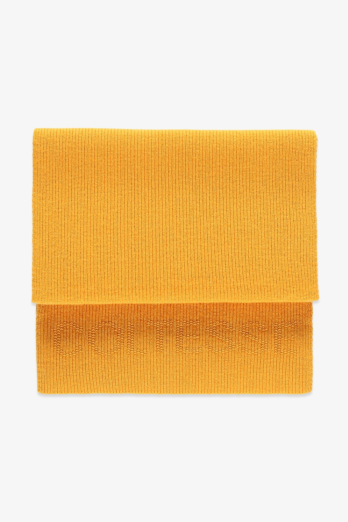Long scarf in wool - yellow