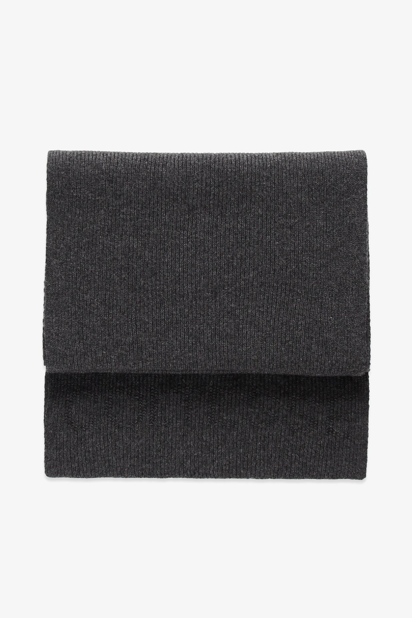 Long scarf in wool - heather grey