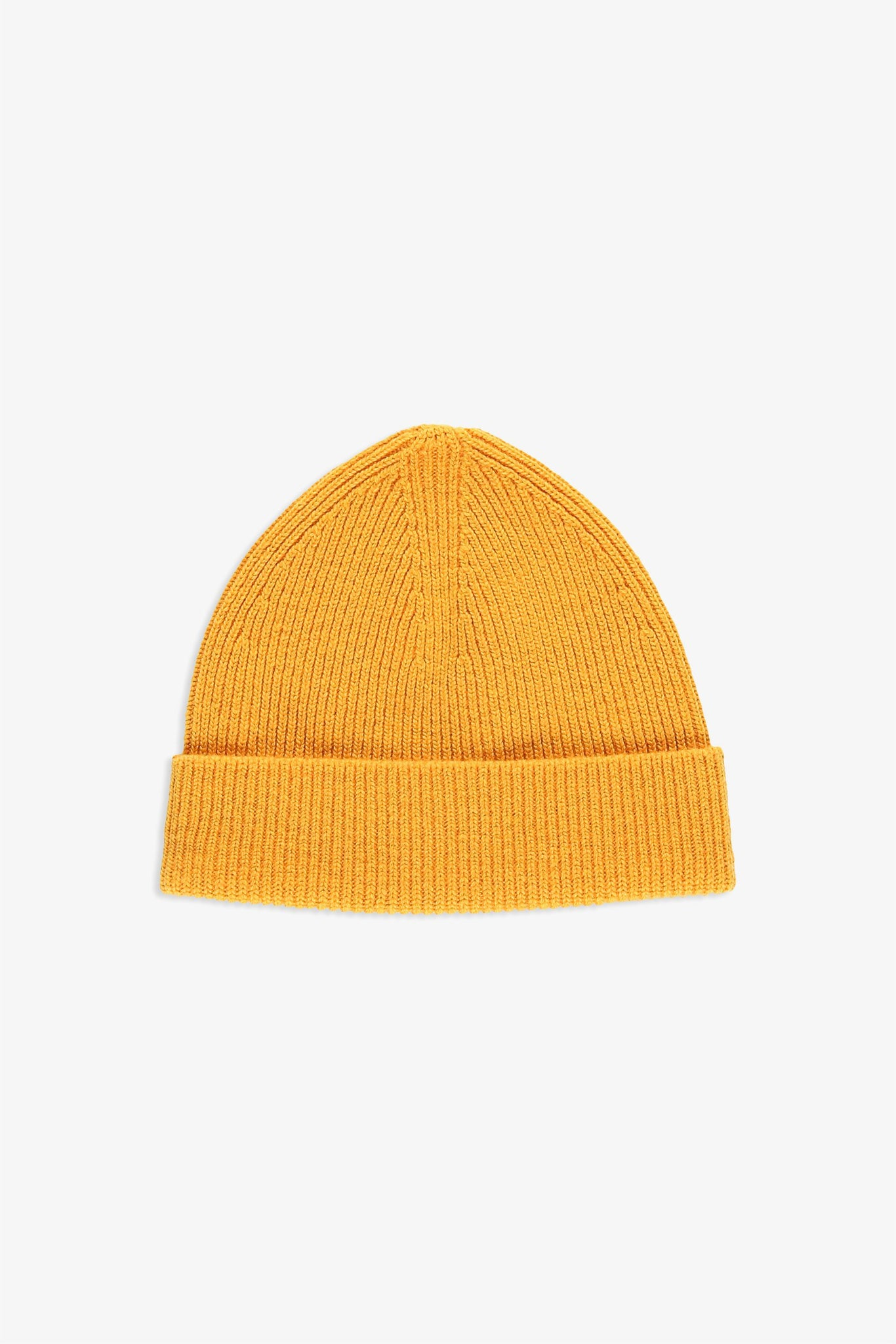 Reversible Beanie in wool - yellow