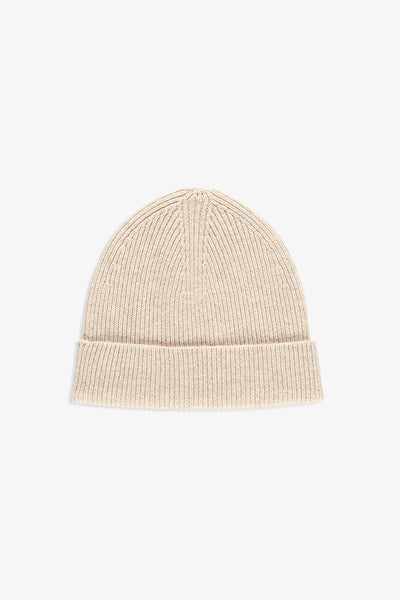 Reversible Beanie in wool - light beige