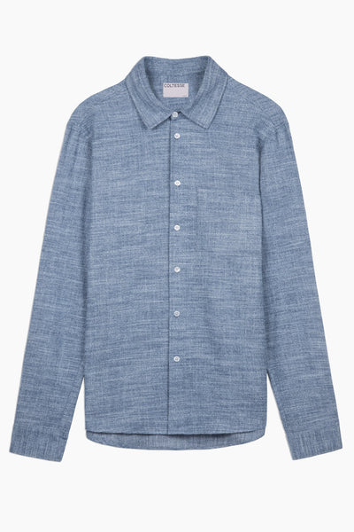 Shirt Lucidius - mouline blue