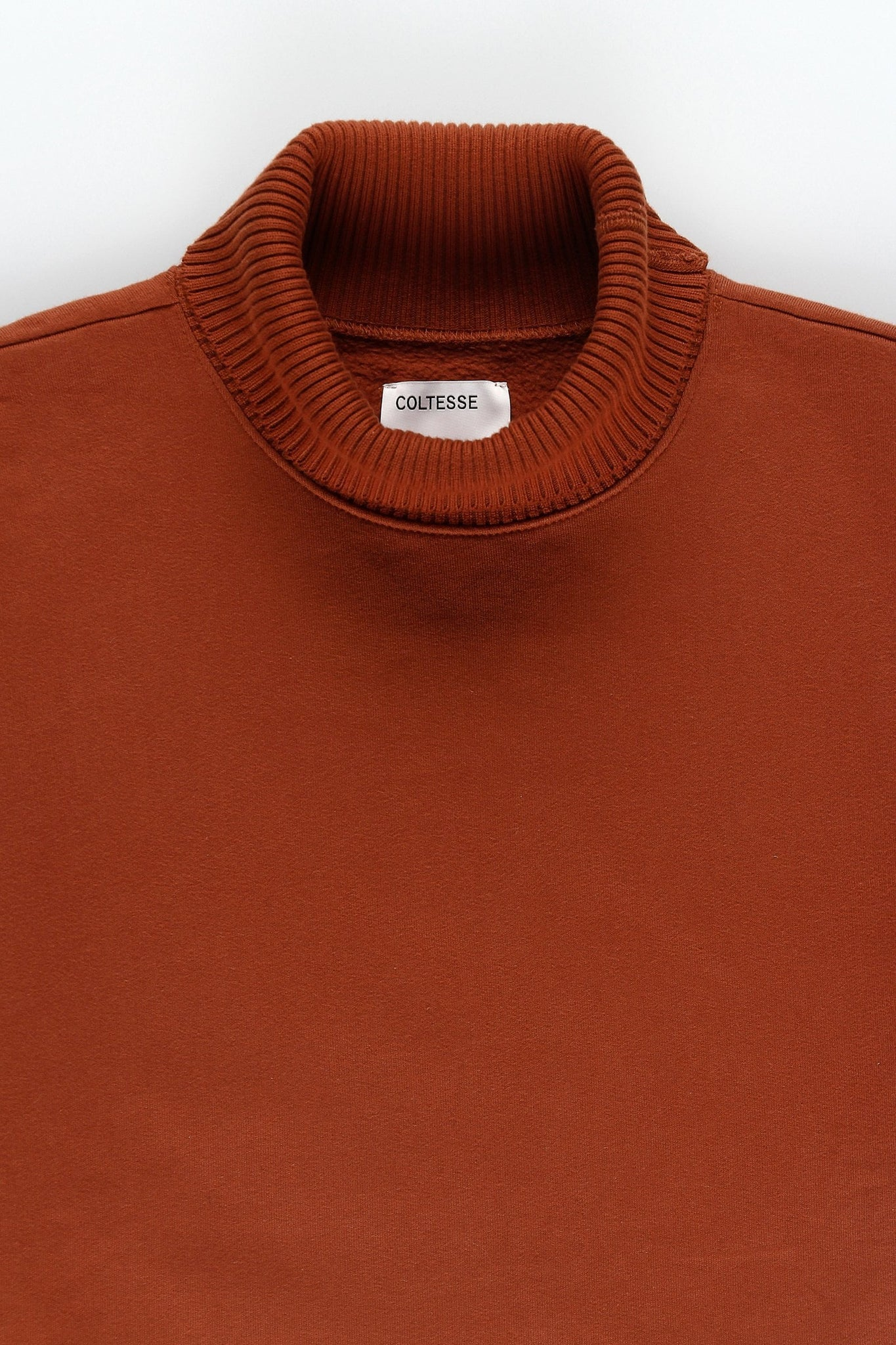Oversized cotton turtle neck - red brown