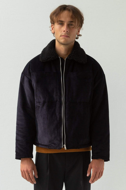 COLTESSE AW19 JACKET Blouson Faux Fur Collar - Black