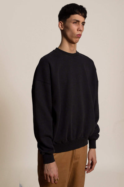 Oversized cotton sweatshirt Biggie - black