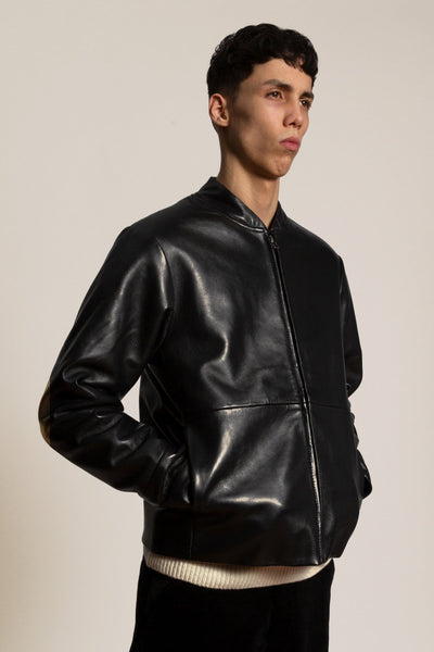 The leather jacket - black
