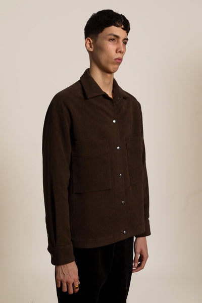 Moleskin jacket – dark brown