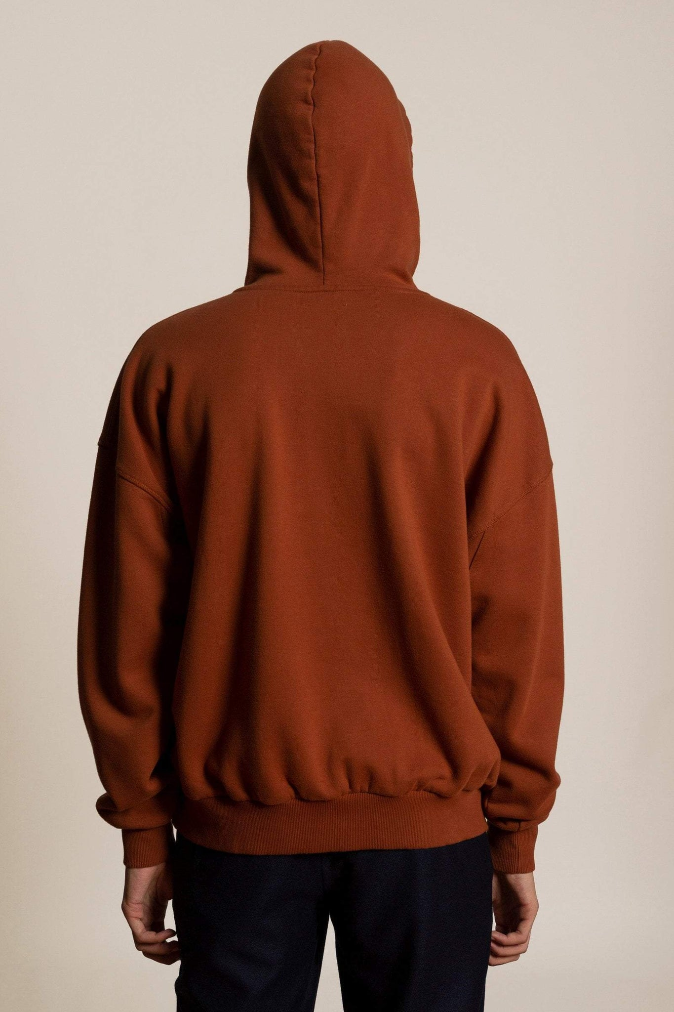 Oversized sweatshirt Hoodie - Red brown