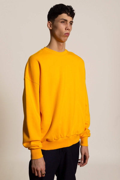 Oversized cotton sweatshirt Biggie -  yellow