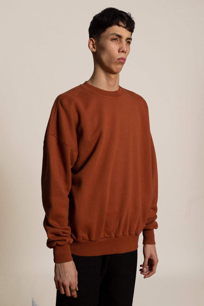 Oversized sweatshirt Biggie - red brown