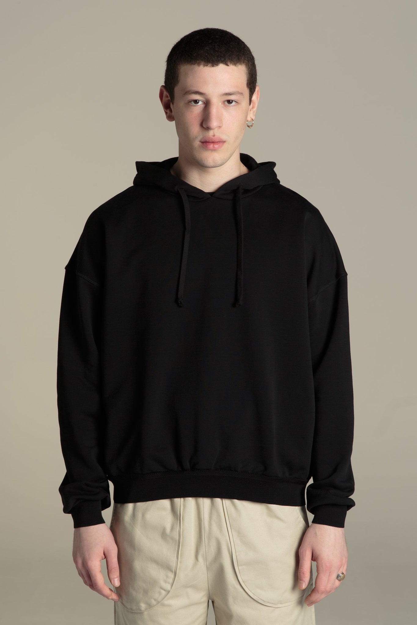 Sweatshirt Hoodii - black