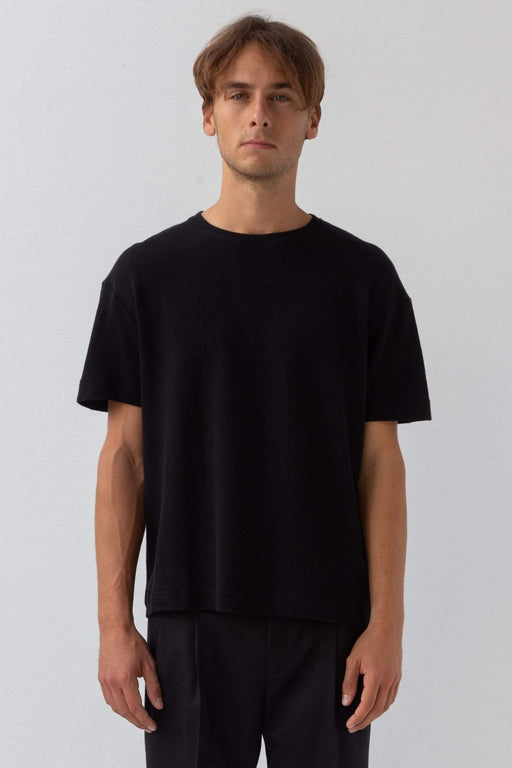 Oversized cotton t-shirt - black