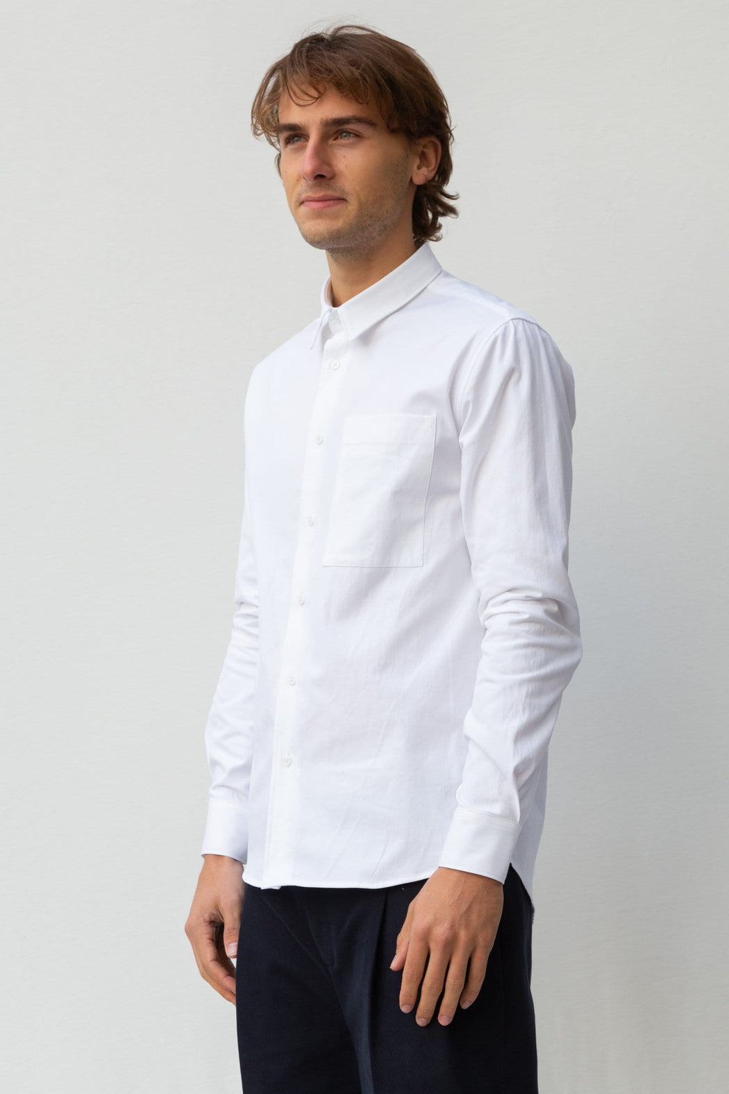 Classic Fit Pocket - White