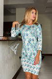 Daphne Dress Hexa Blue