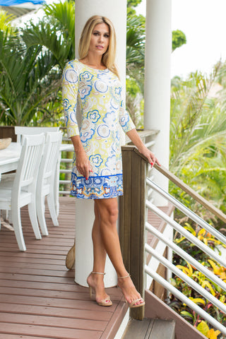 Daphne Dress Lemonade Paisley
