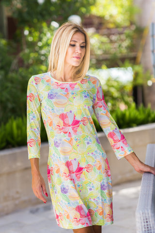 Daphne Dress Lemon Garden