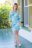 Daphne Dress Mediteraneo Blue